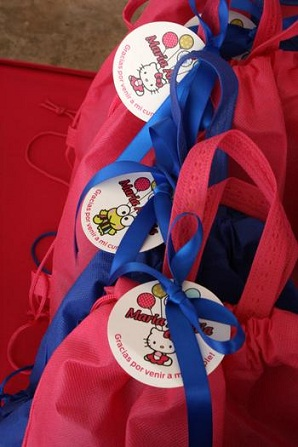 fiesta hello kitty piscina bolsas