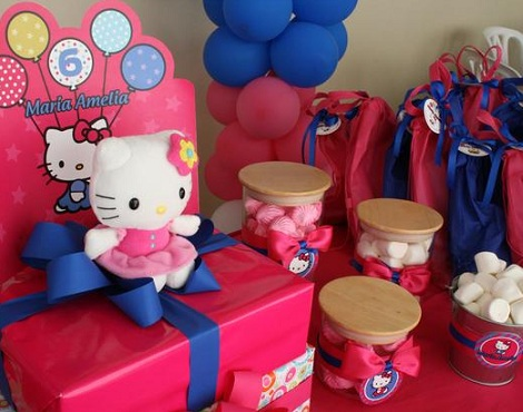 fiesta hello kitty piscina chuches