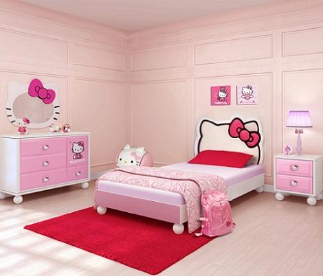habitacion hello kitty niña  - Habitación de Hello Kitty para niña