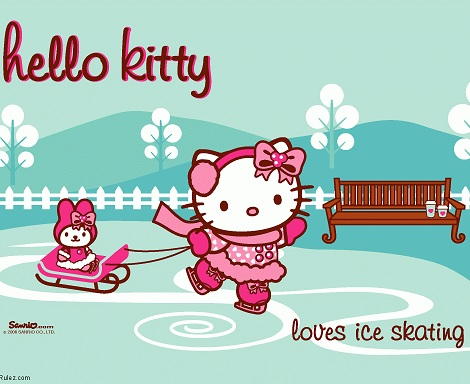 hello kitty patinaje