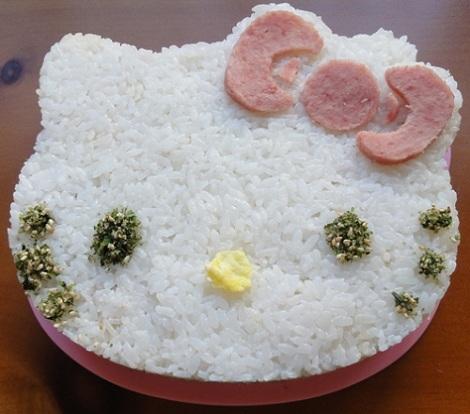 pastel arroz hello kitty  - Pastel de arroz de Hello Kitty
