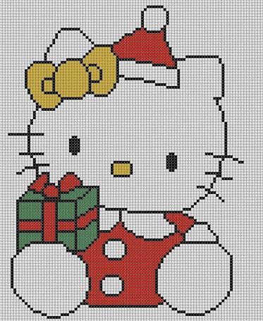 patrones punto de cruz hello kitty regalo
