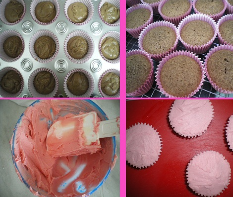 receta cupcakes hello kitty proceso