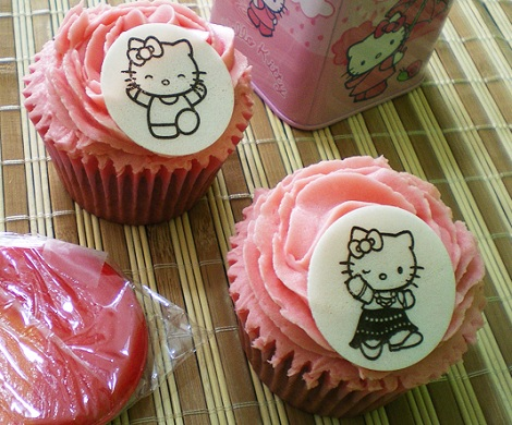 receta cupcakes hello kitty