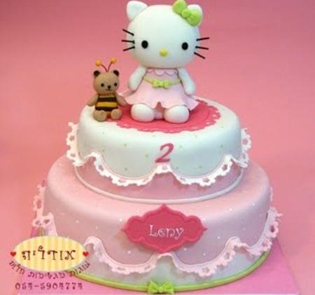 tartas cumpleaños hello kitty abeja