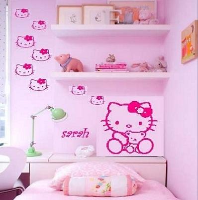 vinilos hello kitty varios  - Vinilos de Hello Kitty para habitación de niña