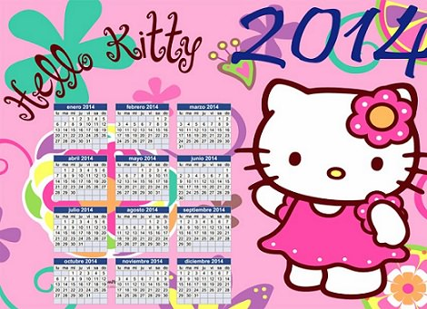 calendario hello kitty  - Fotos de Hello Kitty 2014